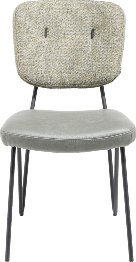 chaise - cadre off black + ressorts ensaches - combi tissu pala (siege) et tissu cleo (dos)