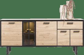 sideboard 200 cm. - 4-tueren + 1-lade + 1-glastuer (+ led)