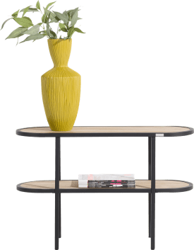 table d'appoint ovale 90 cm + 1-niche