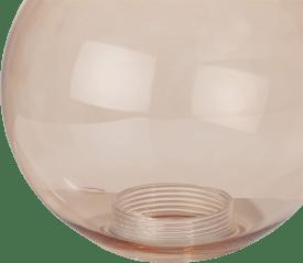 lia - vervanging glas - 15 cm transparant / bruin