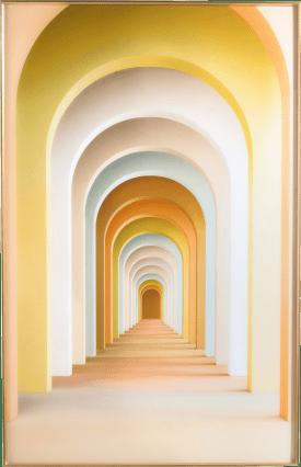 rainbow arches print 90x140cm