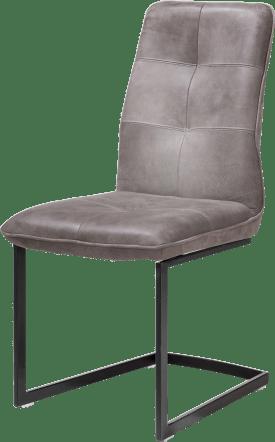 chaise - pied noir traineau carre
