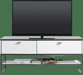 lowboard 140 cm - 1-tiroir + 1-porte rabattante + 1-niche