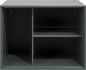 box 45 x 60 cm. - laque - a suspendre + 3-niches + led