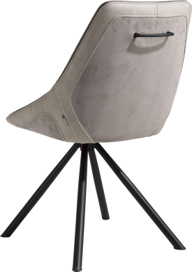 chaise cadre noir 4-pieds + combi tissu savannah / pala