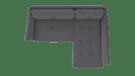 2 Sitzer Armlehne links - Longchair rechts