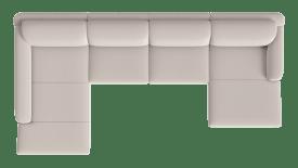 longchair xxl links - 3 zits zonder armen - longchair rechts