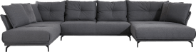 Longchair links - 3 Sitzer ohne Armlehne - Longchair XL rechts - Kissen klein