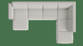 Meridienne gauche - 2,5 places sans accoudoir - partie d'angle - ottomane petite droite
