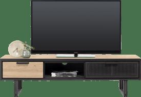 tv-dressoir 160 cm. - 2-laden + 1-niche