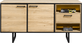 buffet 160 cm. - 2-portes + 1-tiroir + 2-niches (+ led)