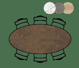 table ellips - 220 x 105 cm