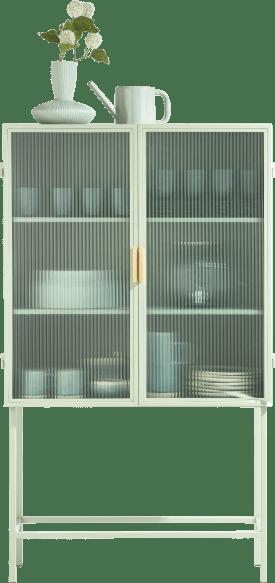 felix glass cabinet h155cm