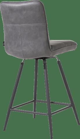 chaise de bar pivotante - pieds noir - pala anthracite