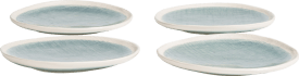 amalfi set of 4 plates d21cm