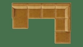 Meridienne gauche - 2,5 places sans accoudoir - ottomane droite