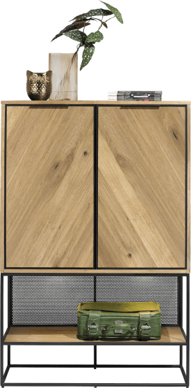 highboard 100 cm. - 2-portes + 1-niche (+ led)