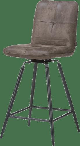 chaise de bar pivotante - pied noir