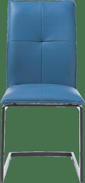 chaise pied traineau carre powdercoat - moreno