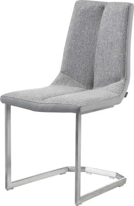 chaise inox traineau carre