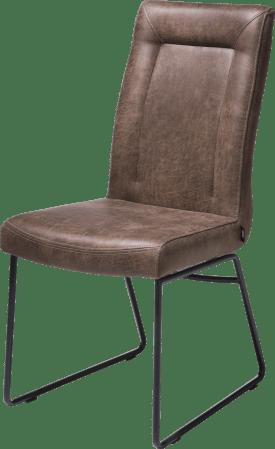 chaise - cadre tube noir - poignee rond - tissu secillia