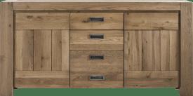 dressoir 185 cm - 2-deuren + 3-laden