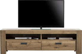 meuble tv 180 cm - 2-tiroirs + 2-niches