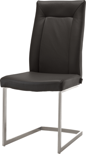 chaise - pied traineau inox carre + poignee rond
