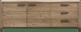 dressoir 220 cm - 2-deuren + 3-laden