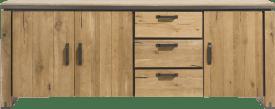 dressoir 210 cm - 3-deuren + 3-laden
