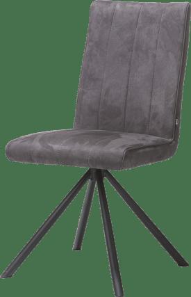 chaise - 4 pieds noir - tissu calabria 4 couleurs