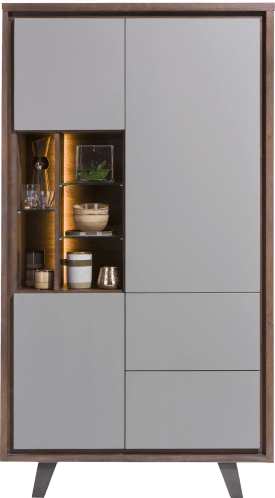 armoire 110 cm - 3-portes + 2-tiroirs + 5-niches (+ led)