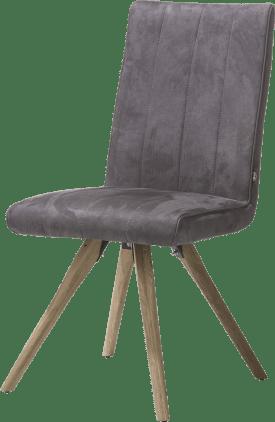 chaise - pied bois - tissu calabria 4 couleurs