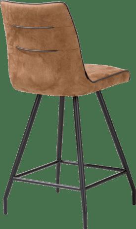 chaise de bar - pied noir - calabria avec passepoil tatra anthracite