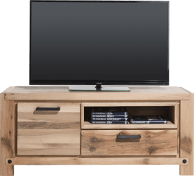 lowboard 140 cm - 1-porte + 1-tiroir + 1-niche (+ led-spot)