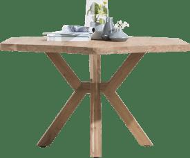 eetkamertafel 150 x 130 cm - houten poot