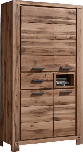 bergkast 110 cm - 4-deuren + 1-lade + 1-niche (+ led-spot)