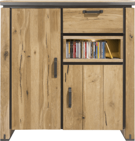 highboard 125 cm - 2-portes + 1-tiroir + 1-niche (+ led)