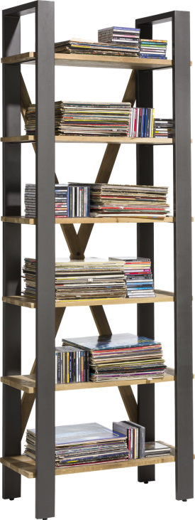 bibliotheque 75 cm - 6-niches (knock down)