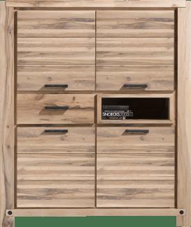 bergkast 140 cm - 4-deuren + 1-lade + 1-niche (+ led-spot)
