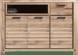 dressette 170 cm - 3-deuren + 1-lade + 1-niche (+ led-spot)