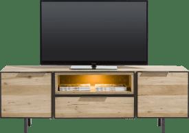 lowboard 150 cm - 2-portes + 1-tiroir + 1-niche (+ led)