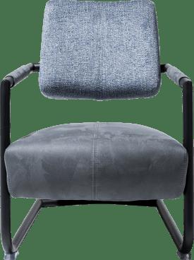 fauteuil cadre metal noir + combi kibo/fantasy