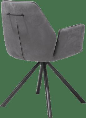 fauteuil - revetement poudre noir - kibo - systeme rotatif