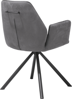 armstoel - poedercoat rob zwart - kibo - draaisysteem