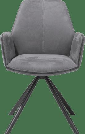 armstoel - poedercoat zwart frame - kibo