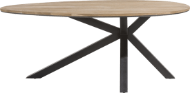 table ovale 200 x 120 cm - chene massif + mdf