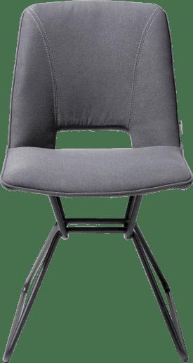 eetkamerstoel + gat in rug - zwart frame - stof lana
