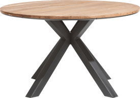 dining table round 130 cm - solid kikarwood
