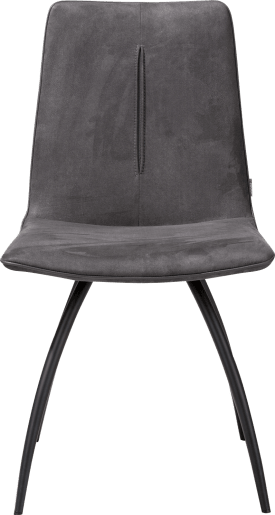 stuhl - 4-fuesse gebogen - schwarz - mit stichnaht